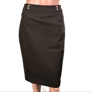 Ivanka Trump Brown Skirt w/ Back Slit Sz4 BrandNew